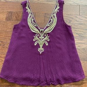 Lilly Pulitzer plum and gold tank